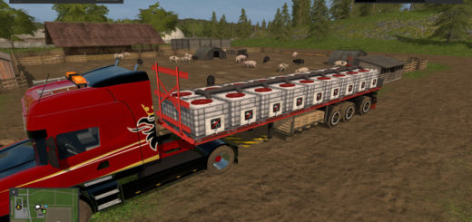 Мод прицеп Flatbed Water Trailer v 1.0 Farming Simulator 2017