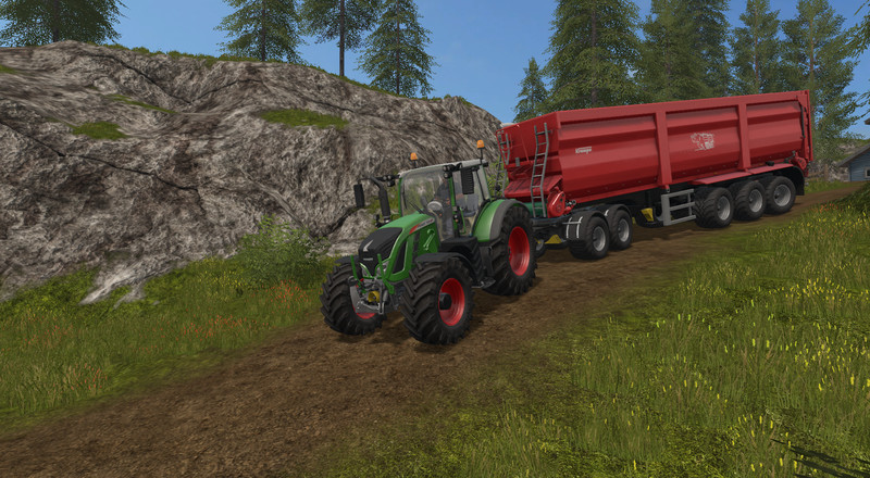 Мод подкатная тележка Fliegl 2-axle Dolly v 1.0 Farming Simulator 17