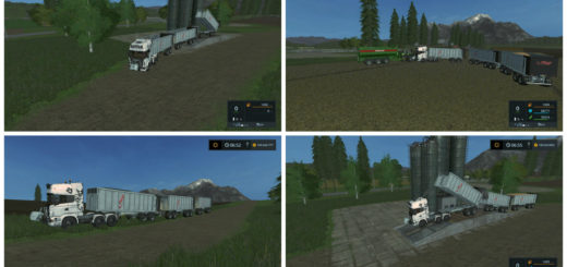 Мод прицепы Fliegl Rear tipper Pack v 1.0 Farming Simulator 2017