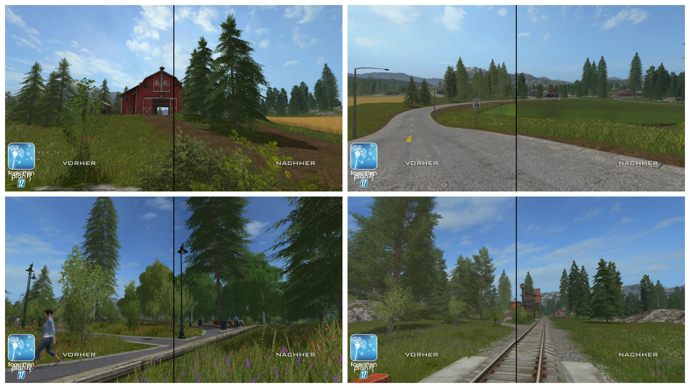 Текстуры Пейзажа Forgotten Plants Landscape v 1.0 Farming Simulator 17