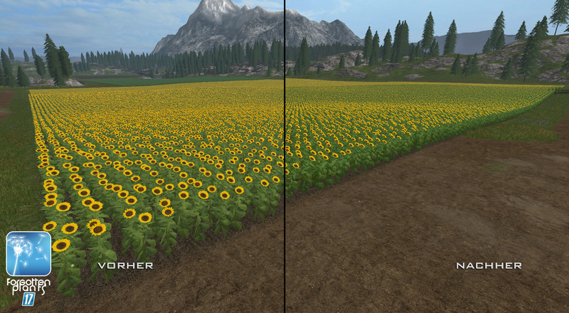 Текстуры Forgotten Plants Sunflowers V 1.1 Farming Simulator 17