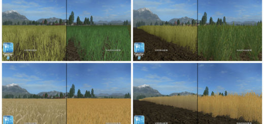Текстуры Пшеницы/Ячменя Forgotten Plants Wheat / Barley v 1.0 Farming Simulator 17