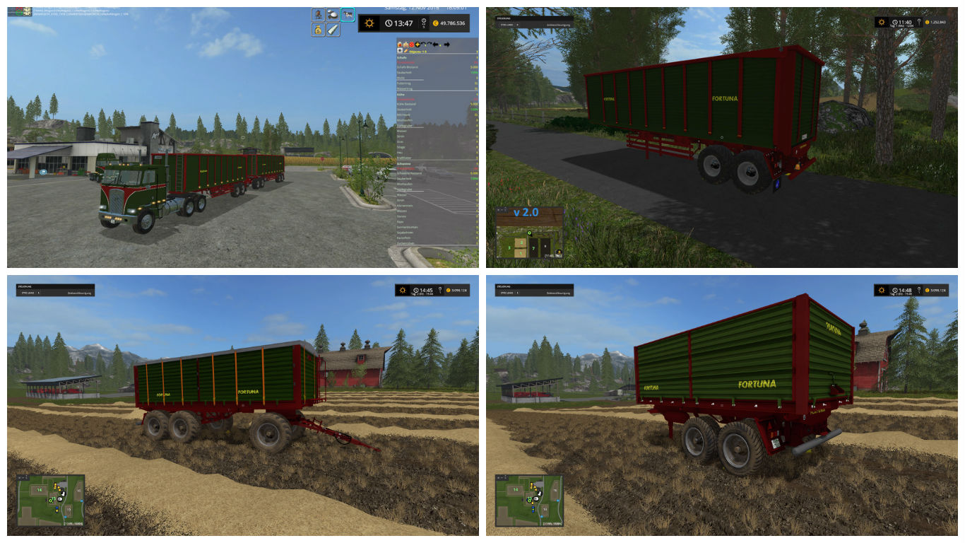 Мод Fortuna Pack v 1.0.6 Farming Simulator 17