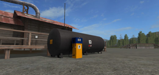 Мод Placeable Gas Station v 1.3 Farming Simulator 2017