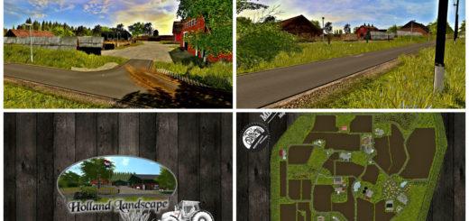 Мод карта HOLLAND LANDSCAPE 2017 V1 Farming Simulator 17