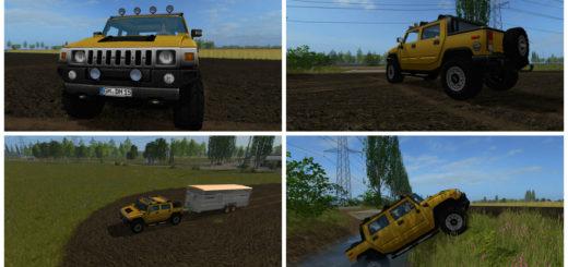 Мод авто Hummer H2 FS17 V 0.17.0 Farming Simulator 2017
