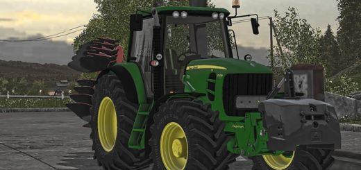 Мод трактор JOHN DEERE 7530 Farming Simulator 17