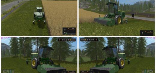 Мод JOHN DEERE W260 WINDROWER V1.1 Farming Simulator 17
