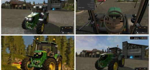 Мод трактор John Deere 6115M v 1.2 Farming Simulator 2017
