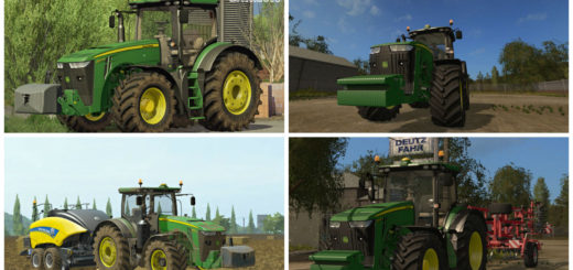 Мод трактор John Deere 8R Series v Beta Farming Simulator 17