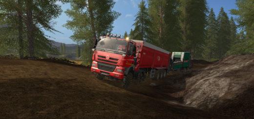 Мод прицеп Krampe Bandit SB 30/60 with trailer hitch v 1.0 Farming Simulator 17