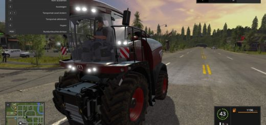 Мод комбайн Krone Big X 580 Tuning Edition Version 1.0.0.1 Farming Simulator 17