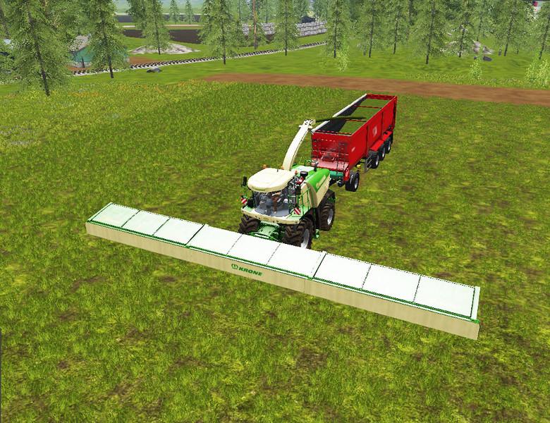 Мод жатка Krone XDisc 1860 V 1.0 Farming Simulator 17