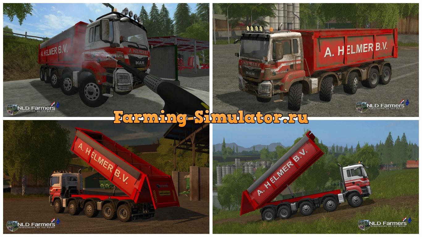 Мод грузовик MAN A Helmer B.V. v 2.2 Farming Simulator 17