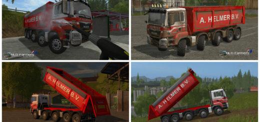 Мод грузовик MAN A Helmer B.V. V 2.0 Farming Simulator 2017