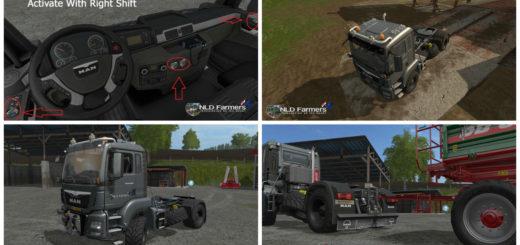 Мод тягач MAN TGS 18.480 v 1.4 Farming Simulator 17