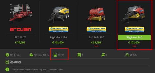 Мод тюкопрессы New Holland Baler Pack (Fill level) V 1 Farming Simulator 17