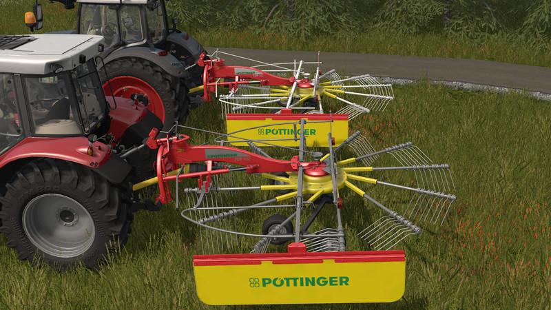 Мод валковая жатка Pottinger Top 462 v 1.0.0.0 Farming Simulator 2017