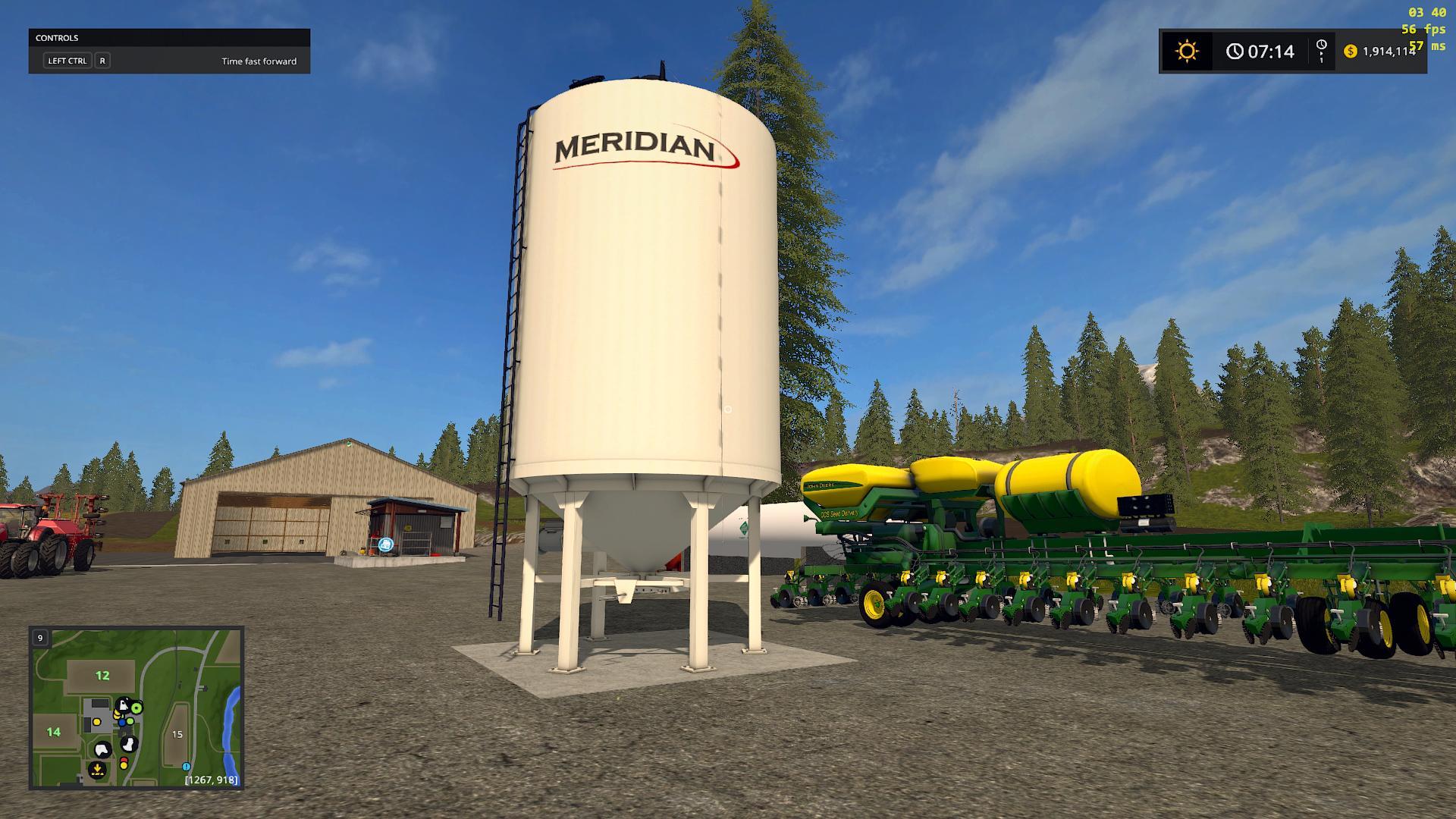 Мод Placeable Meridian Seed Tank v 1.0 Farming Simulator 17
