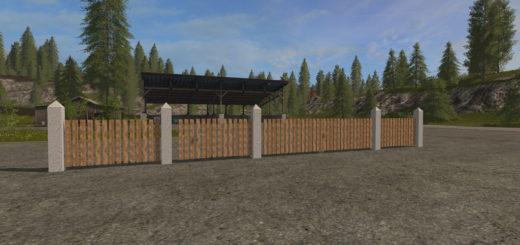 Мод забор Placeable Fence Set Farming Simulator 17
