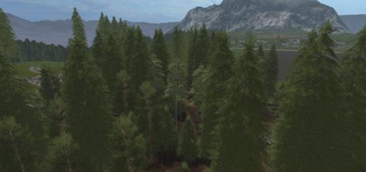 Мод Placeable Pine Standard Set V1.3 Farming Simulator 2017