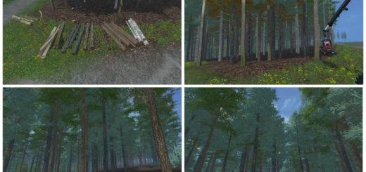 Мод Placeable blue spruce v 1.0 Farming Simulator 17