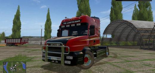 Мод тягач Scania T164 2-axle v 1.0 Farming Simulator 17