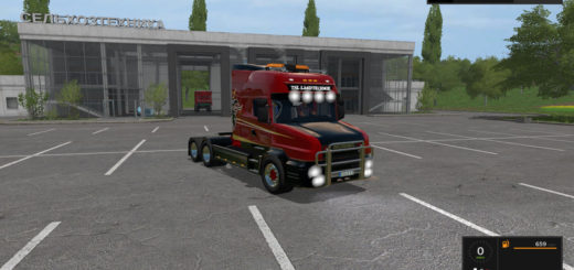 Мод тягач Scania T164 3-axle v 1.0 Farming Simulator 2017