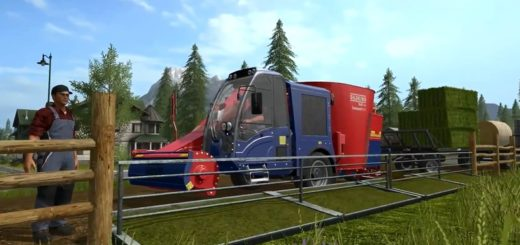 Мод миксер Siloking SelfLineCompact1612 Pigfood V 1.1 Farming Simulator 17