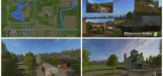 Мод карта Silvercrest Valley v3.0 Farming Simulator 17