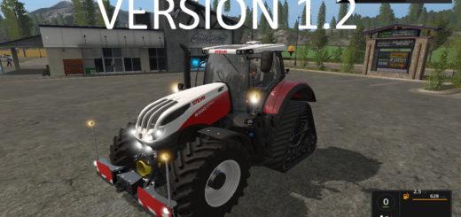 Мод трактор Steyr Terrus CVT v 1.2 Farming Simulator 17