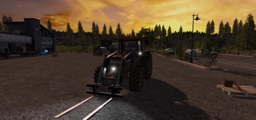 Мод вилы Stoll Long Pallet fork v 1. Farming Simulator 17