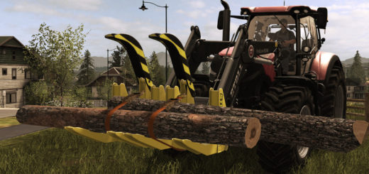 Мод Stoll Log Fork Duo v 2.1 Farming Simulator 2017