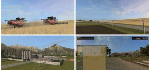 Мод карта FS17 U.S. HILL V 1.0.2 Farming Simulator 17