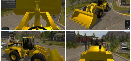 Мод погрузчик CAT 980H WHEEL LOADER Farming Simulator 17