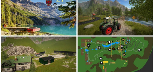 Мод карта Goldcrest Mountains V 2.5 Farming Simulator 17