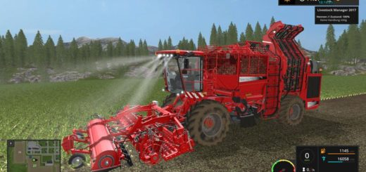 Мод комбайн Holmer TerraDos T4-30 v 2.0 Farming Simulator 2017