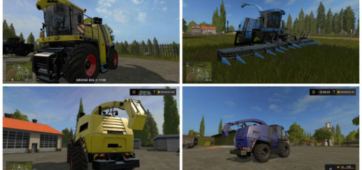 Мод комбайн Krone Big X 1100 v 2.0 Farming Simulator 2017