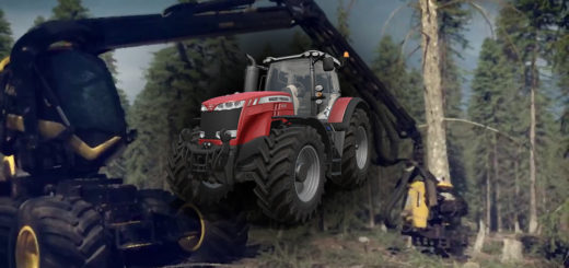 Мод трактор Massey Ferguson 8700 Collorable v 1.0 Farming Simulator 17