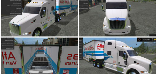 Мод Peterbilt 387 и прицепы Farming Simulator 2017