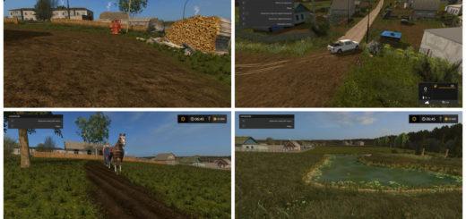 Мод карта Gilus kaimas / Deep Village V 1.0 Farming Simulator 2017
