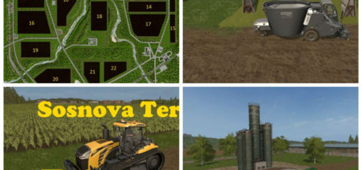 Мод карта Sosnova Terra v 1.2 Farming Simulator 17