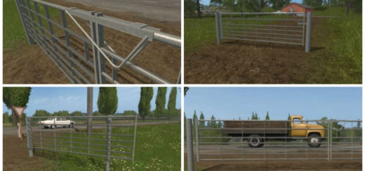 Мод Animated Seven bar galvanized gates v 1.0 Farming Simulator 2017