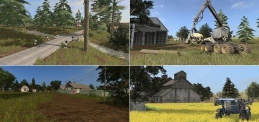 Мод карта Западный регион v 1.1 Farming Simulator 2017