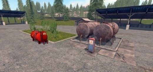 Мод Gas Station v 1.0 Farming Simulator 2017