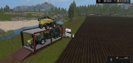 Мод трал Bunk Tral v 1.2 Farming Simulator 2017