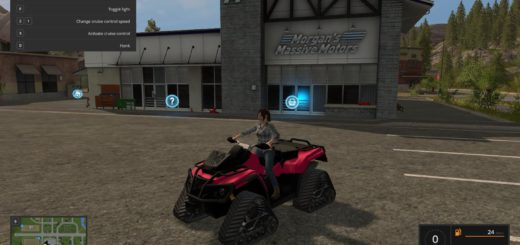 Мод квадроцикл ATV CRAWLER Farming Simulator 2017