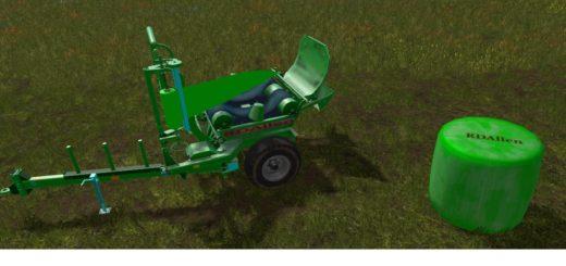 Мод AUTO-UNLOAD SILAGE ROUNDBALES WRAPPER V1.0 Farming Simulator 2017