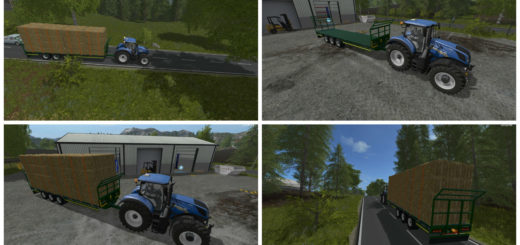 Мод прицеп Broughan 36 Foot Bale v 1.0 Farming Simulator 17