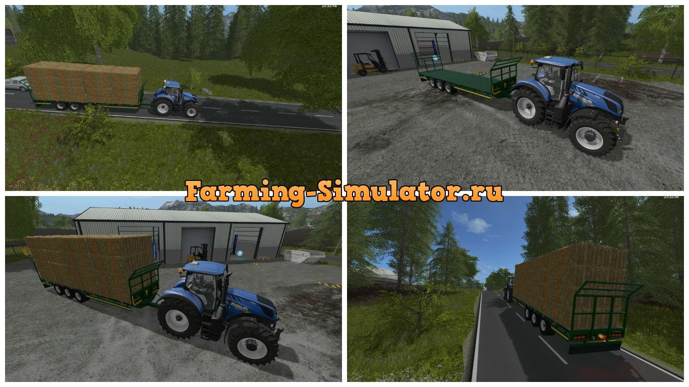 Мод прицеп Broughan 36 Foot Bale v 1.0 Farming Simulator 17